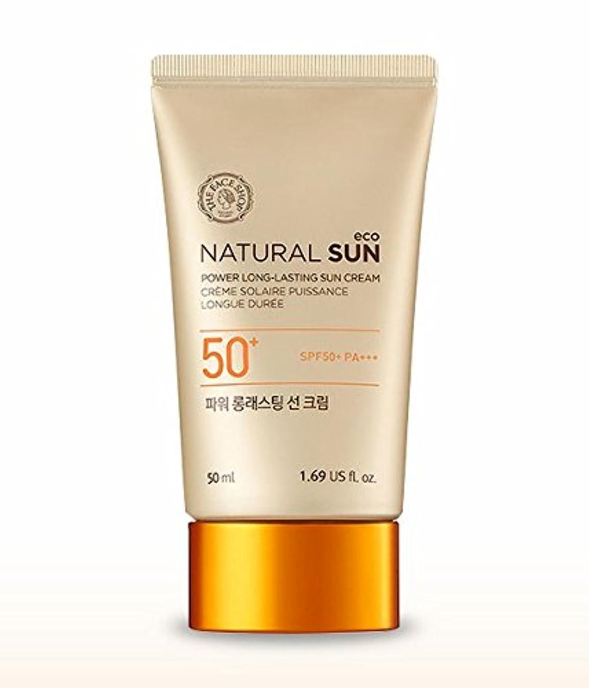 遅い乳白居心地の良いTHE FACE SHOP Natural Sun Eco Power Long Lasting Sun Cream 50mlザフェイスショップ ナチュラルサンパワーロングラスティングサンクリーム [並行輸入品]