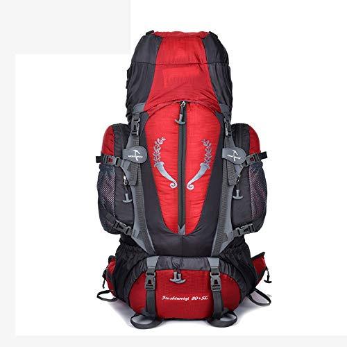 Diommest 80 + 5L Trekrugzak, waterdicht nylon duurzaam Trekking Bag, Multifunctionele outdoor Rugzak for Camping Outdoor Sport Klimmen Alpinisme Rugzak Mannen Vrouwen Daypack Mannen Vrouwen