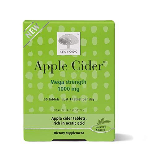 New Nordic Apple Cider Mega Strength Tablets   Wellness Supplement   No Vinegar Taste   Swedish Made, 30 Count