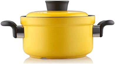WZWHJ Yellow casserole, high temperature resistance, uniform heating, fast heat conduction, safety and environmental prote...