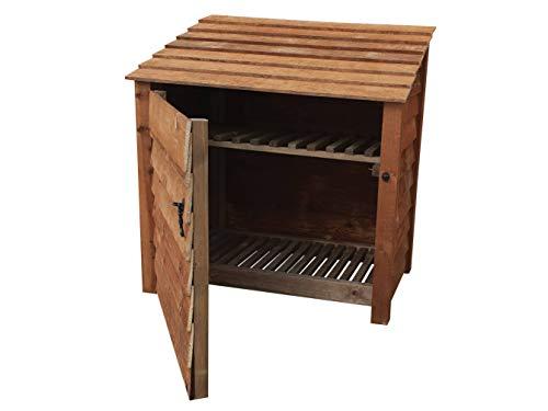 Arbor Garden Solutions Wooden Log Store With Door and Kindling Shelf 4Ft (1.2 cubic meters capacity) (W-119cm, H-126cm, D-81cm)