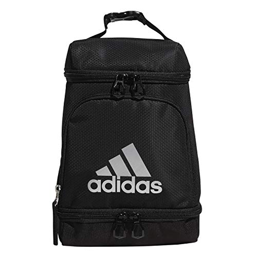 adidas Excel Insulated Lunch Bag, Black/Silver Metallic, One Size