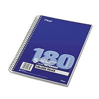 Mead : Spiral Boundノートブック、カレッジルール、8x 10–1/ 2、1パッド–ホワイト、180シート: -として販売2パックof–1–/–Total of 2Each