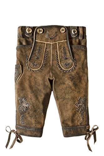 Stockerpoint Jungen Hose Fritz Lederhose, Mehrfarbig (Stein Geäscht Stein Geäscht), 110/116 (Herstellergröße: 110-116)