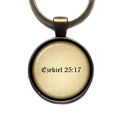 Pulp Fiction Ezekiel 25:17 King James Version KJV Bible Bibel Keychain Bronze Schlüsselanhänger
