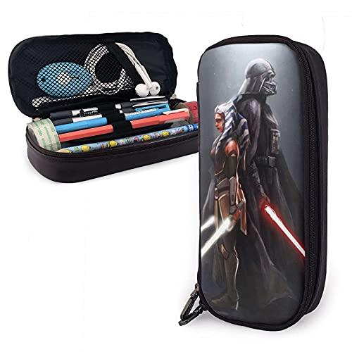 Star Wars - Estuche de piel para lápices y artículos de papelería para oficina, portátil, caja de almacenamiento para cosméticos