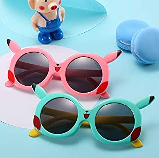 FSMKDS - FSMKDS Espejos decorativos multicolores, gafas de sol de silicona para niños, gafas de sol polarizadas Pikachu de dibujos animados lindos