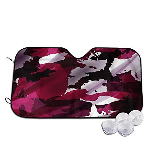 Rterss Textiler Hintergrund für Windschutzscheibe, Sonnenschutz, Frontscheibe, Glas, verhindert das Aufwärmen des Autos Gr. 85, weiß