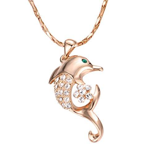 Le collier dauphin en plaqué or rose