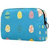 Set de huevos de Pascua para mujer, adorable bolsa de maquillaje espaciosa bolsa de viaje impermeable