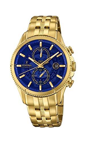 Festina Herren Chronograph Quarz Uhr mit Edelstahl Armband F20269/2