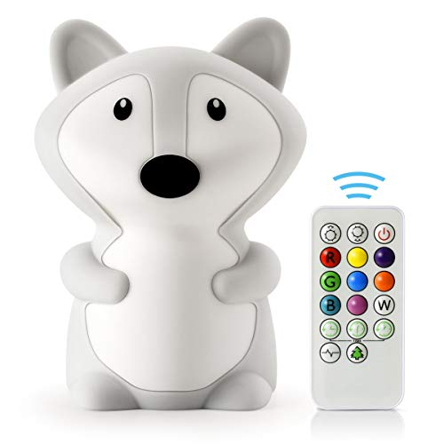 LED Nursery Night Lights for Kids -USB Rechargeable Animal Silicone Lamps with Touch Sensor and...