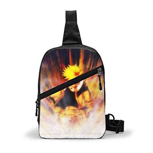 JONINOT Uzumaki Na-uto, paquete de pecho, bandolera, mochila de gran capacidad, mochila de hombro para hombre y mujer, mochila informal para el pecho, mochila para el pecho