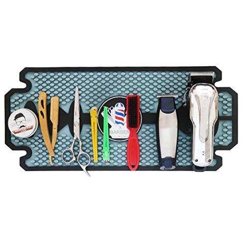 ILS Barbershop Push-shear Scissores Mat Combl Clip Display Pad Accessoires de barbier en silicone
