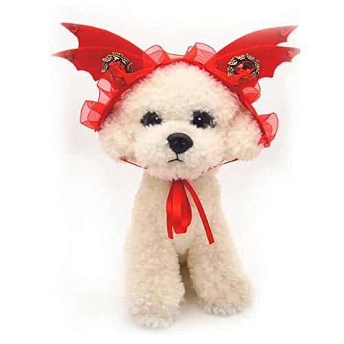 SinceY Pet Gear Pet Bandanas Pet Kopfbedeckung Hund Kostüm Haar Tragen Teufel Kappe Hund Katze Kopfschmuck Hund Outfits Heimtierbedarf