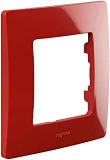 legrand 397876 Marco simple para 1 interruptor, Rojo