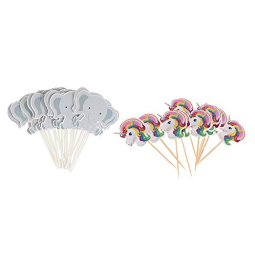 Harilla Opakowanie z 24 słoniami babeczek + 10 x dekoracja na imprezę