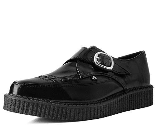 T.U.K. Shoes Männer Damen Schwarz Hi Glänzen Spitze Schnalle Anarchische Creeper EU41 / UKW8 UKM7