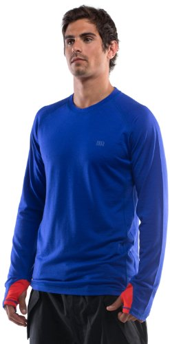 Mons Royale Supa Tech T-Shirt à Manches Longues pour Homme Bleu Bleu m