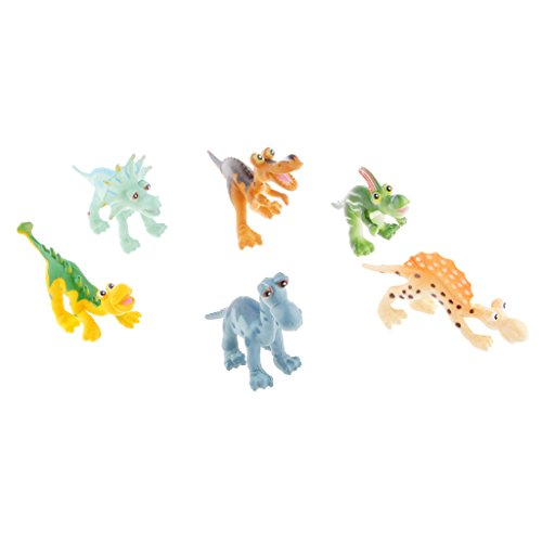 Gazechimp Set 6pcs Modèles Dinosaures Jurassique Figures Simulation Plastique Collection Jouet Cadeau Enfants