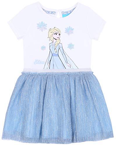 Wit-blauwe jurk met een glanzende tule Disney Land Frozen Disney
