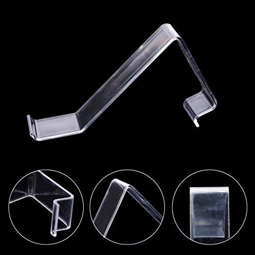 Hergon - Soporte para zapatos de acrílico transparente en forma de L, expositor de tiendas, estante de plástico, decoración para dormitorio