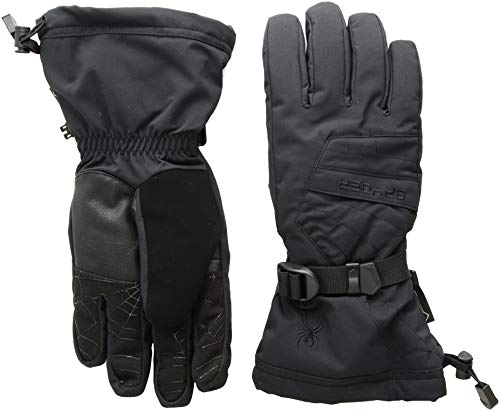 Spyder Men's Overweb Gore-tex Ski Glove, Black/Black, Small