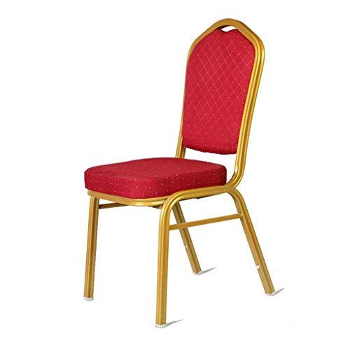 Lxn Chaise de Salle à Manger, Cuisine, Chambre à Coucher, chaises de Type économique côté Salon, simplicité, Moderne, Design, métal Rouge - 1pcs