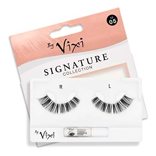 By Vixi De Faux Cils (Réutilisable avec 1g de COLLE) Bande Transparent Ultra Confortable - Signature No. 05