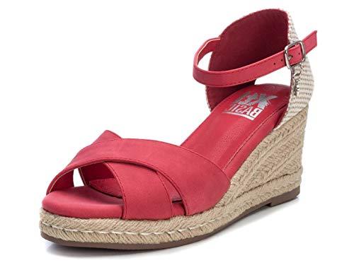 XTI Sandalia Alpargata BAS034230 para Mujer Rojo 41