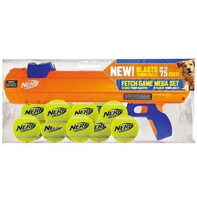 Nerf Elite 20' Blaster Dog Toy With12 Squeak Tennis Balls