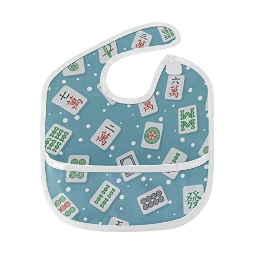 Baberos para bebés recién nacidos China Entertainment Mahjong Juego de mesa Baberos...