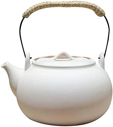Yruog Tetera Tetera de cerámica Teteras Tetera de cerámica Tetera de cerámica Tetera de cerámica de arcilla blanca Tetera Estufa de cerámica eléctrica Viga lateral Tetera pequeña
