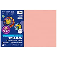 Tru-Ray PAC103042BN Construction Paper Salmon 12 x 18 50 Sheets (Pack of 5) [並行輸入品]