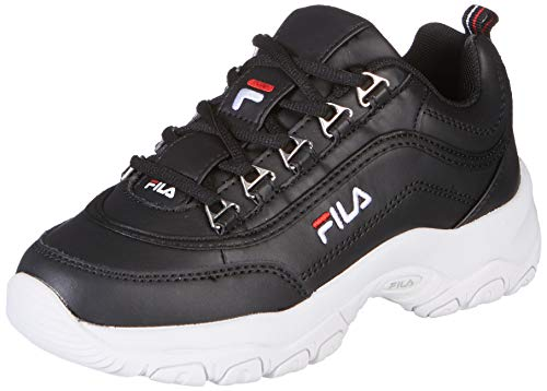 Fila Strada Low Wmn, Sneaker a Collo Alto Donna, Nero (Black 25y), 39 EU