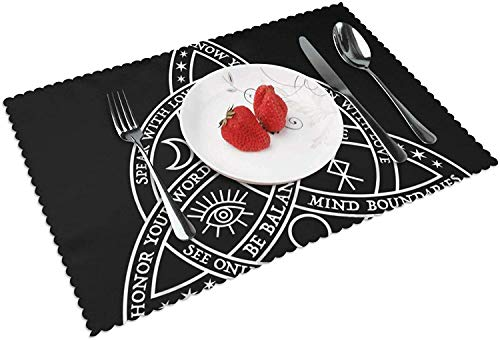 The Reusable Good Witch Celtic Knot Placemats Set of 4 for Dinning TableWashable Heat-Resistant Kitchen Table Mats Non-Slip Easy to Clean Perfect for Everyday use,