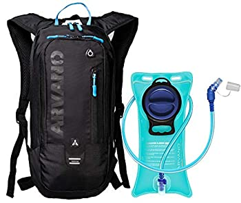 Arvano Hydration Pack Bike with 2l Water Bladder,Small Mountain Biking Backpack Lightweight Bicycle Daypack,6l Mini Rucksack for Cycling MTB Skiing Snowboarding,Day Hiking Bag Running Pouch Women Men