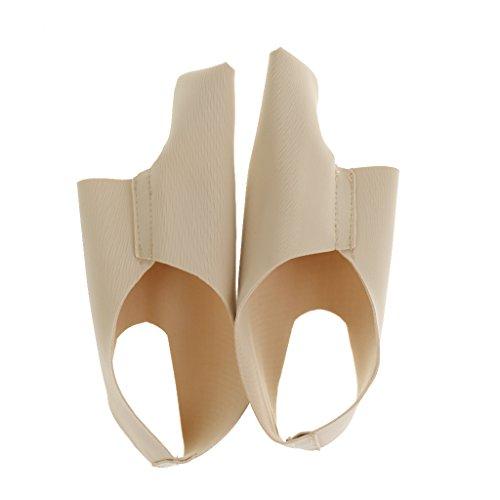 Baoblaze Hallux Valgus Bandage/Bunion Sleeve: Ultradünne Korrekturschiene/Zehenspreizer - Beige, M