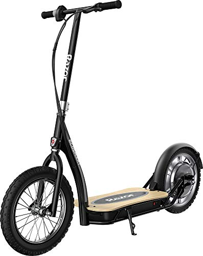 """Razor EcoSmart SUP Electric Scooter – 16"""" Air-Filled Tires, Wide Bamboo Deck, 350w High-Torque Hub-Driven Motor, Up to 15.5 mph & 12-Mile Range, Rear-Wheel Drive"""