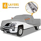 Big Ant Truck Cover All Weather Protection 100% Waterproof Pickup Truck Cover Custom Fit for Full Size Truck with Short Bed Crew Cab up to 232' L with Driver Door Design,Gray