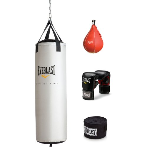 Everlast 70 LB Nevatear Heavy Bag Boxing Kit with 14 oz Pro-Style Gloves and 120 inch Hand Wraps