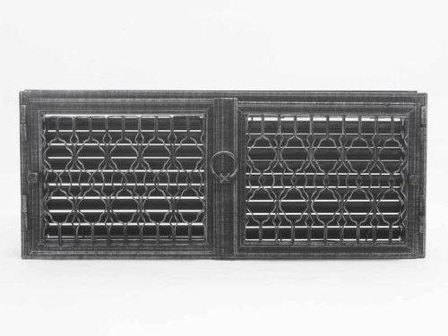 HARK Lüftungsgitter Lindau 28 x 69 cm, Schwarz-Antik