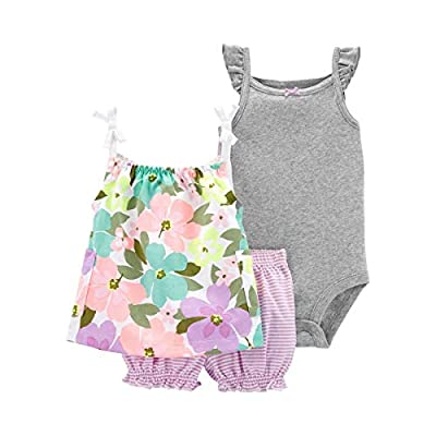 Carter's Baby Girls 3-Piece Floral Little Short Set Multi (9 Months)