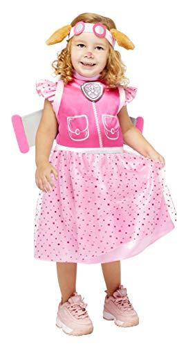 amscan 9909126 Skye Deluxe Disfraz de Halloween de 4 a 6 aos, rosa, aos
