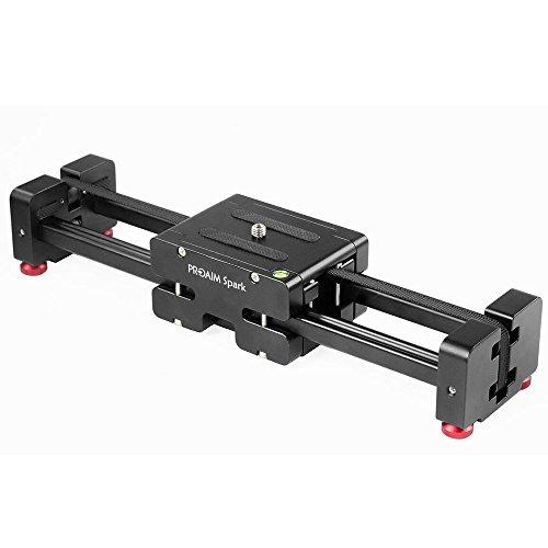 """PROAIM Spark 13"""" Video DSLR Camera Slider Extendable Double Travel Distance on Tripod Track Dolly Rail Slider (P-SPK-13)   Best Travel Slider"""