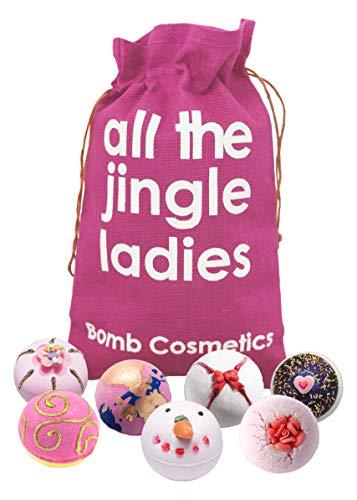 Bomb Cosmetics All die Jingle Ladies Handmade Hessischer Sack Bath Blaster Geschenkpackung, Für Sie [7-teilig], 1.1kg