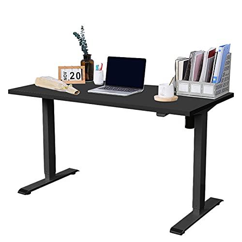FLEXISPOT EG1 Escritorio de pie con el Tablero 120cmx 60cm Soporte de Escritorio Ajustable en Altura Mesa elevable eléctrico (Negro, 120X60)