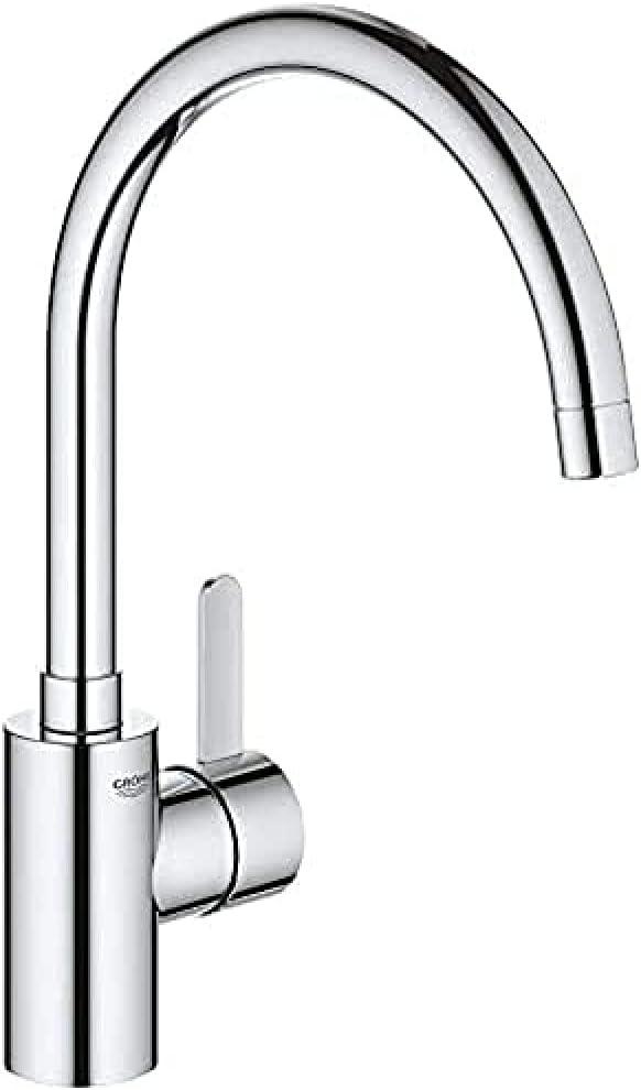 Grohe Eurosmart Cosmopolitan - Grifo de cocina, caño alto y giratorio, limitador ecológico de caudal (1/2