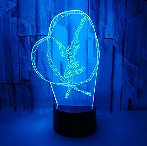 Luz de noche de mesa, lámpara de ilusión 7, USB, lámpara de mesa, juguete para niños, regalo de cumpleaños, día festivo, interruptor táctil (control remoto del teléfono)