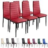 Albatros 2709 Milano Set de 6 sillas de Comedor, Rojo